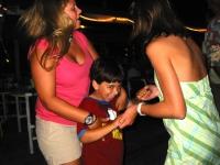 Samuel dances in Florida with friend Kelsea Moses and cousin Sophie Viandier on vacation in Amelia Island, Florida.  Dan Habib photo