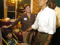Samuel and Betsy meet President Barack Obama.
