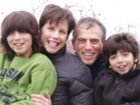 From left: Isaiah Habib (now 11), Betsy McNamara, Dan Habib and Samuel Habib (now 8). Photo taken November 19, 2006. For publicity purposes for the film Including Samuel, www.includingsamuel.com.  MANDATORY CREDIT: Sage Wheeler